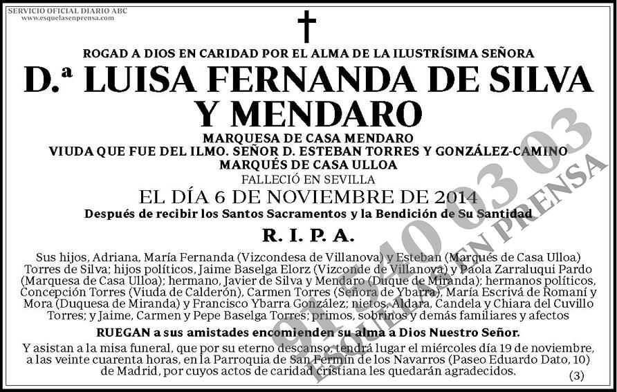 Luisa Fernanda de Silva y Mendaro
